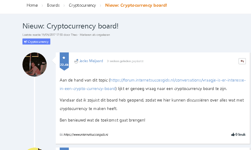 geld investeren via internet crypto currency