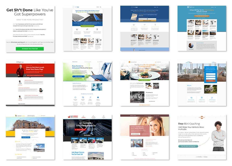 thrive architect templates voorbeelden