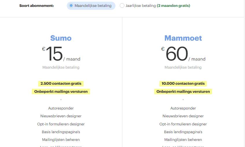 beste nederlandse email marketing software Enormail prijs