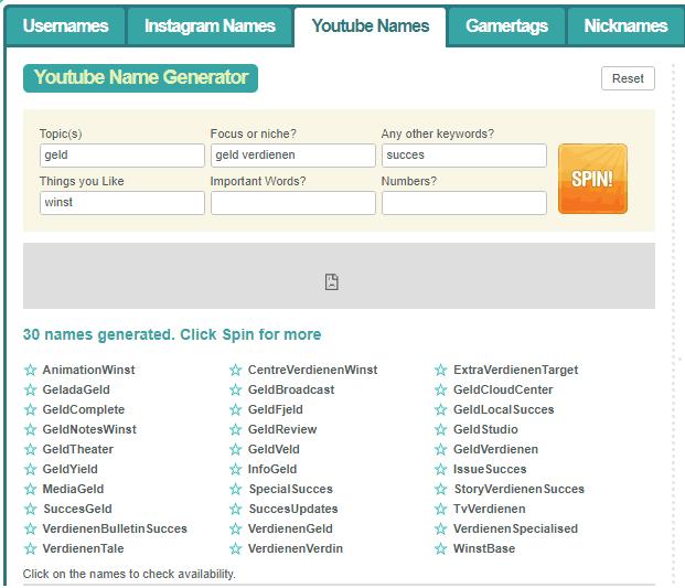 youtube naam verzinnen stappenplan