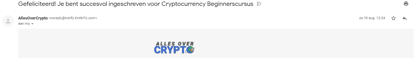 betaling allesovercrypto cursus beginners