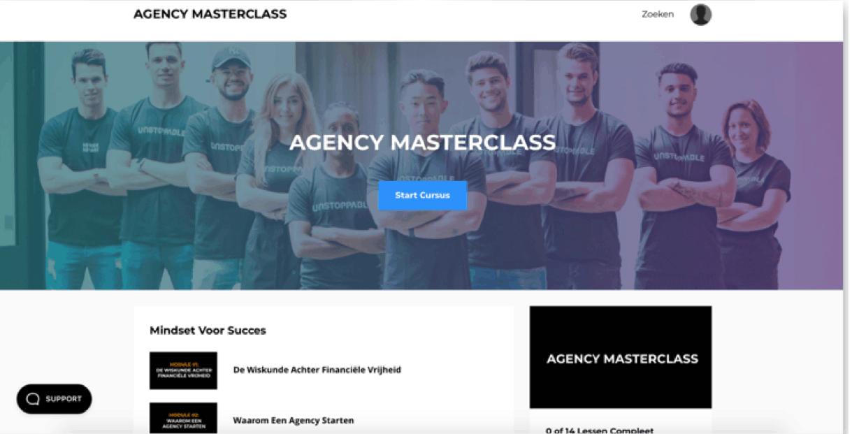 ledengedeelte vormgeving agency masterclass