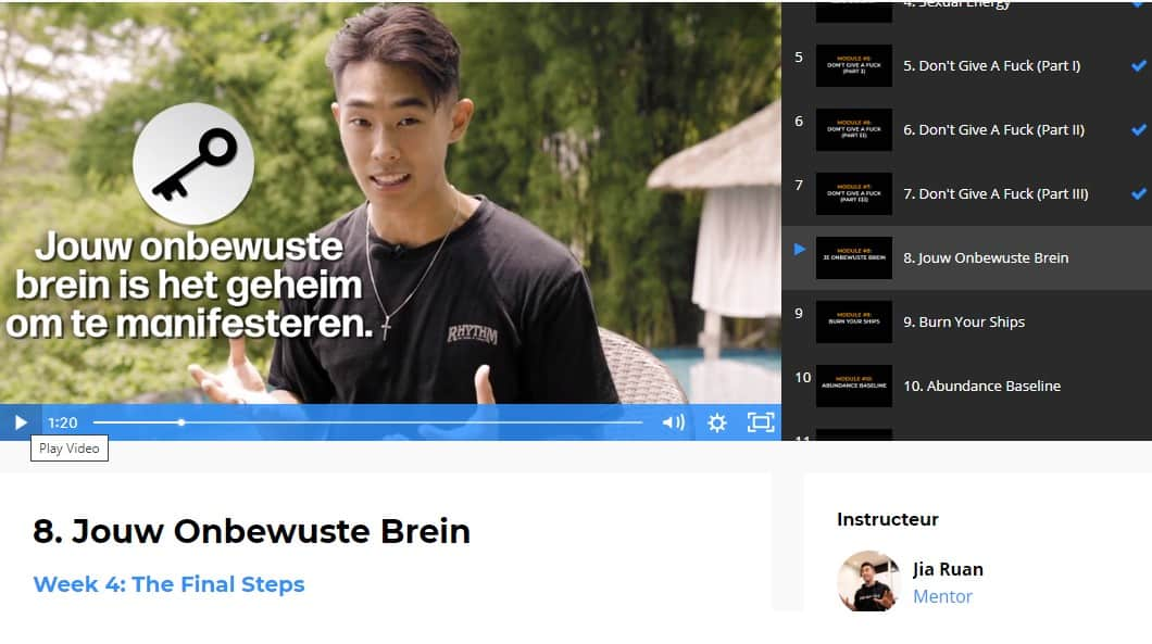 onbewuste brein mindset cursus jia ruan review