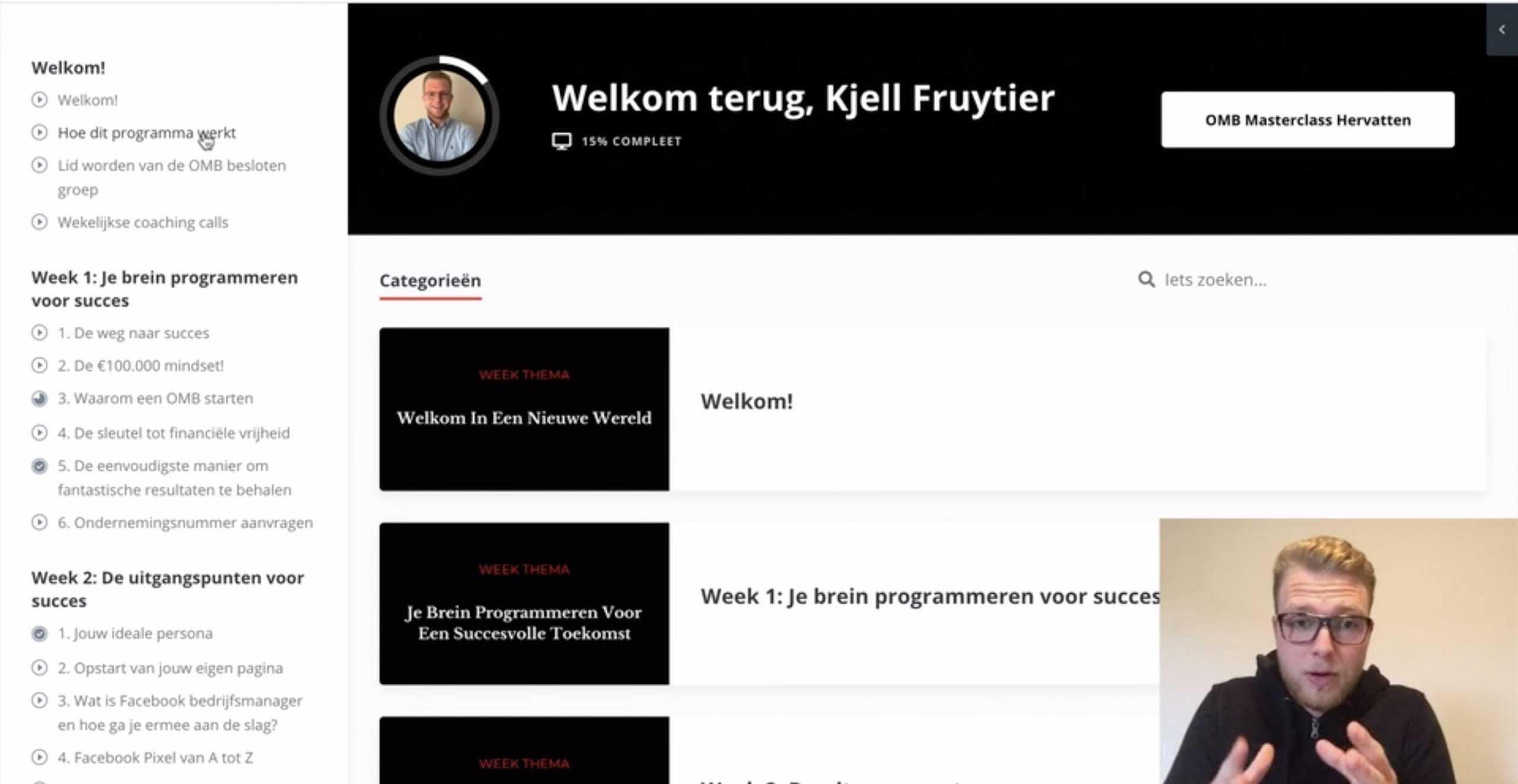 Kjell Fruytier OMB Masterclass dashboard